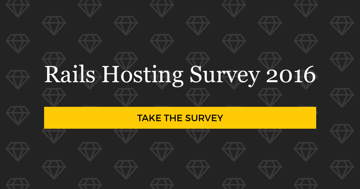 Rails Hosting Survey 2016