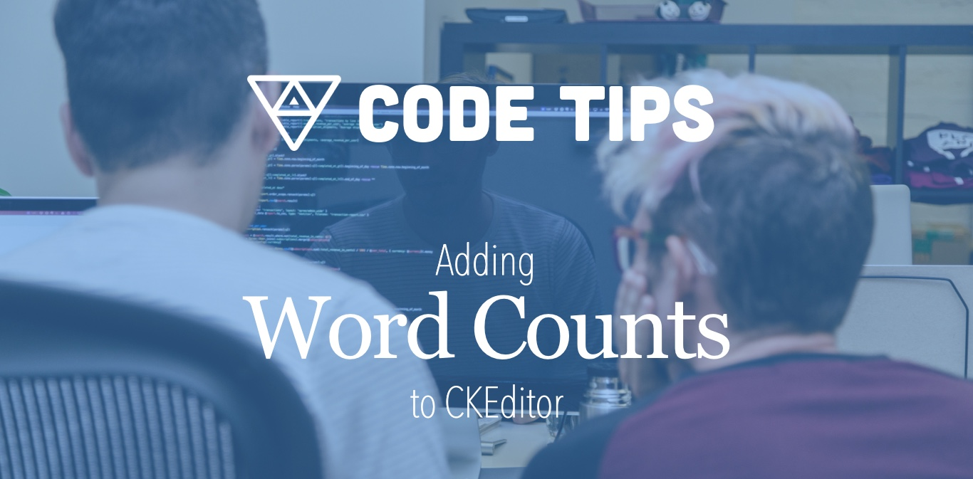 Tip to add word counts to CKEditor
