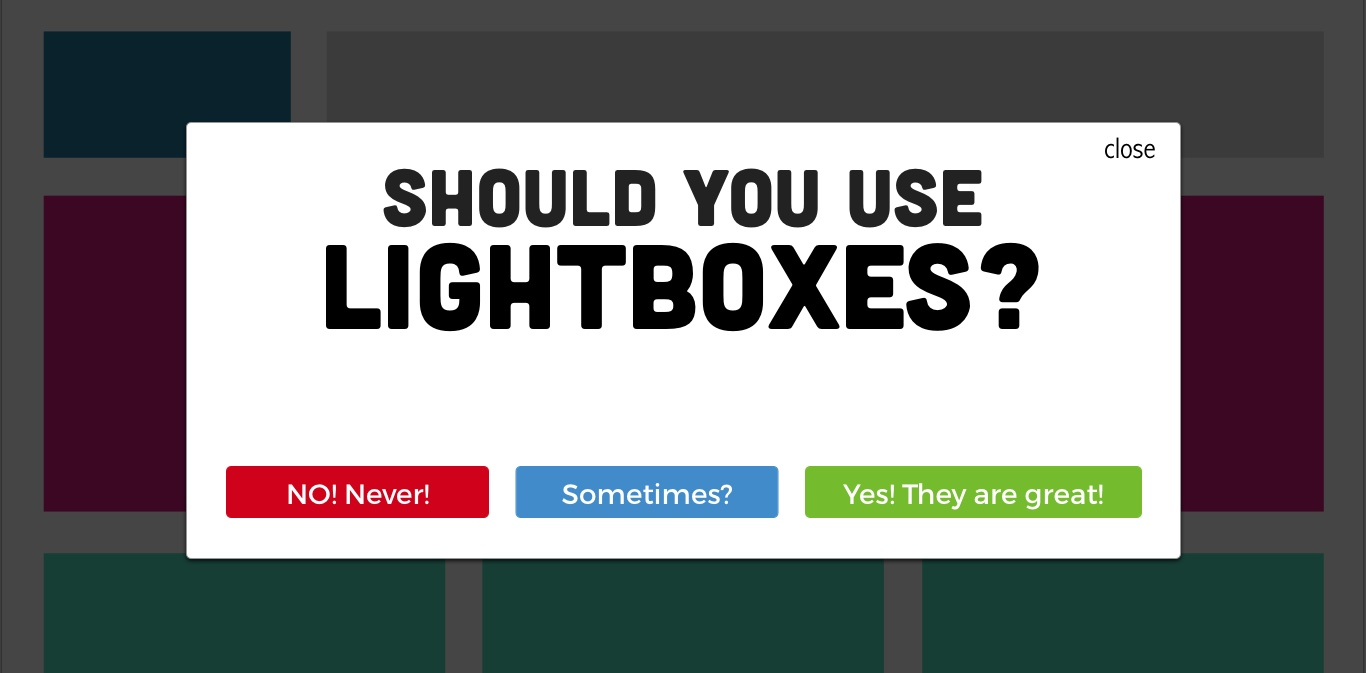 The (Partial) Death of the Lightbox
