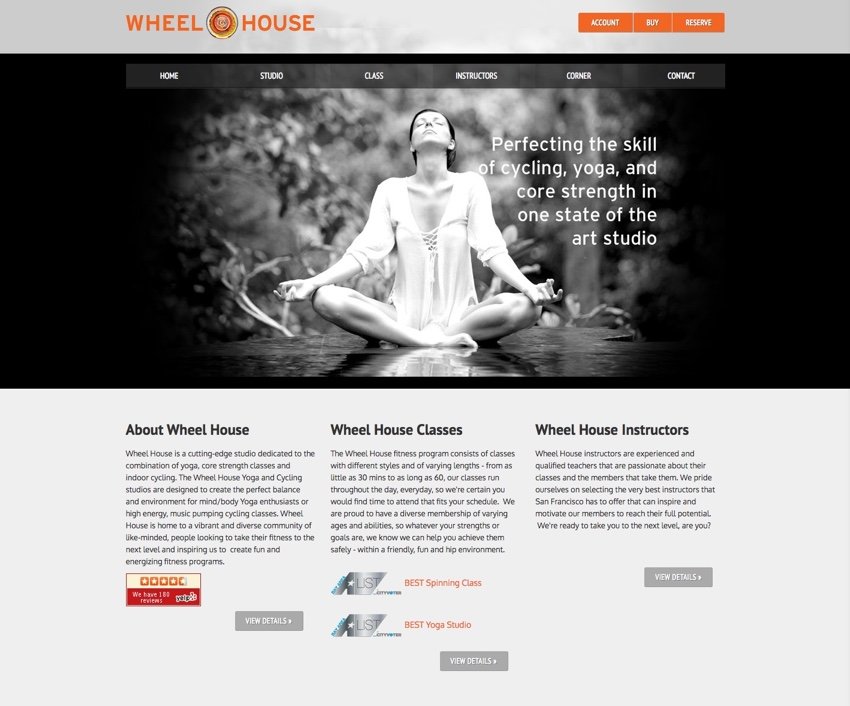 Wheel House's old homepage