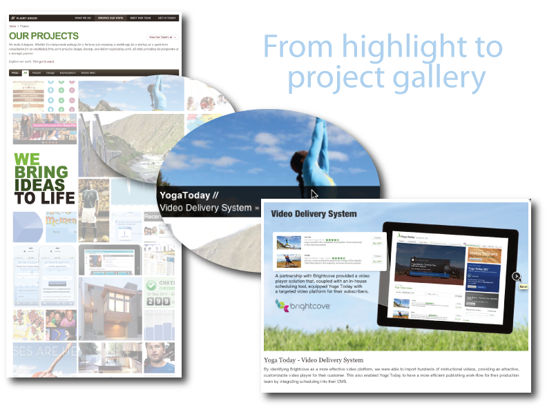 our new projects page
